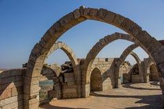 Arco de Champaner siete en Gujarat, la India Fotos de archivo