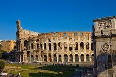Arco de Colosseum e de Constantines Fotografia de Stock