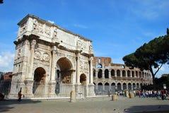 Arco de Constantim - Colosseo Fotos de Stock Royalty Free