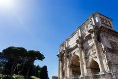 Arco de Constantim em Roma Imagens de Stock