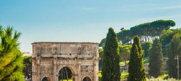 Arco de Constantina, Roma Imagen de archivo libre de regalías