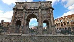 Arco de Constantina Roma almacen de video