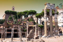 Arco de Constantino and  Colosseum in Rome, Italy. Details of Arco de Constantino and  Colosseum in Rome, Italy Stock Photo