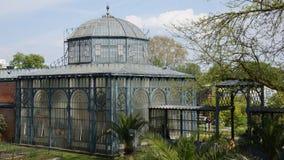 Arco de construção histórico do parque de Alemanha do jardim zoológico de Wilhema fotografia de stock