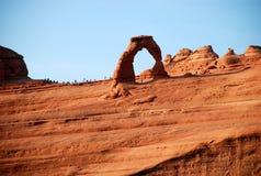 Arco de Delicated en parque nacional de los arcos Imágenes de archivo libres de regalías