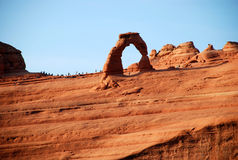 Arco de Delicated no parque nacional dos arcos Imagens de Stock Royalty Free