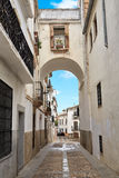 Arco de Espana Ισπανία Caceres αψίδα Στοκ Φωτογραφία