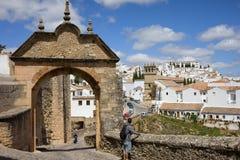 Arco de Felipe V en Ronda Foto de archivo libre de regalías
