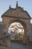 Arco de Felipe V en Ronda Fotos de archivo libres de regalías