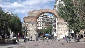 Arco de Galerius em Tessalónica vídeos de arquivo