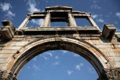 Arco de Hadrian Fotografía de archivo libre de regalías