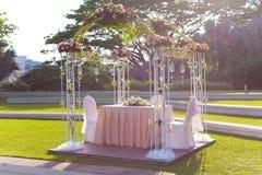Arco de la boda Fotografía de archivo