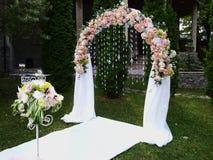 Arco de la boda Fotos de archivo libres de regalías
