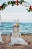 Arco de la boda de playa Fotografía de archivo libre de regalías