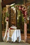 Arco de la boda para la boda Fotos de archivo