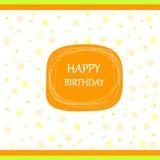 Arco de la cinta de la tarjeta del feliz cumpleaños Fotos de archivo libres de regalías