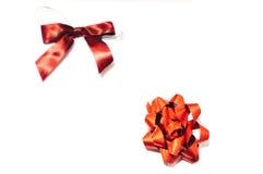 arco de la cinta de 2 rojos Imagen de archivo libre de regalías