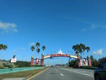Arco de la entrada del mundo de Disney Imagenes de archivo