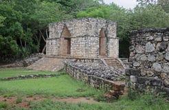 Arco de la entrada a Ek Balam Fotografía de archivo libre de regalías