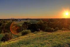 Arco de la entrada y horizonte de St. Louis, Missouri Foto de archivo