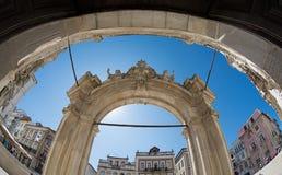 Arco de la iglesia Imagen de archivo libre de regalías