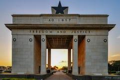 Arco de la independencia - Accra, Ghana Fotos de archivo libres de regalías