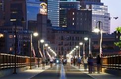 Arco de la piedra de Minneapolis fotos de archivo