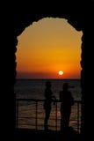 Arco de la puesta del sol Fotos de archivo libres de regalías