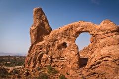 Arco de la torrecilla, arcos parque nacional, Utah Foto de archivo libre de regalías