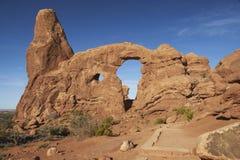 Arco de la torreta, parque nacional de los arcos Foto de archivo