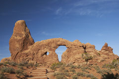 Arco de la torreta, parque nacional de los arcos imagen de archivo libre de regalías