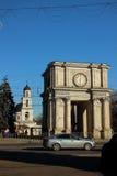 Arco de la victoria, el 13 de diciembre de 2014, Chisinau, el Moldavia Imagenes de archivo