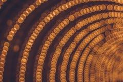 Arco de las luces del bokeh Iluminación festiva fotografía de archivo