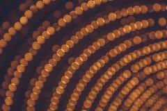 Arco de las luces del bokeh Iluminación festiva imágenes de archivo libres de regalías