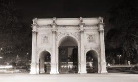 Arco de mármore visto do norte fotografia de stock
