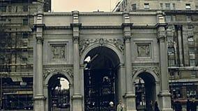 Arco de m?rmol Londres almacen de metraje de vídeo
