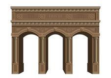 Arco de madeira antigo Imagens de Stock Royalty Free