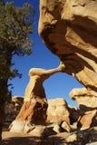 Arco de Metate en el jardín del diablo Fotos de archivo