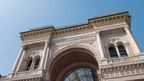 Arco de Milan Galleria Vittorio Emanuele, Hyperlapse video estoque