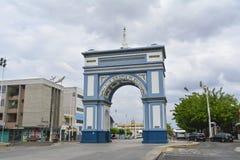 Arco de Nossa Senhora de Fatima, simbolo della città di Sobral, stato del Ceara, Brasile Immagine Stock