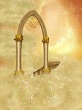 Arco de oro Imagen de archivo libre de regalías
