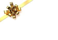 Arco de oro de la Navidad Imagenes de archivo