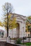 Arco de oude Roman boog van deigavi in Verona stock afbeelding