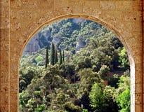 Arco de piedra. Foto de archivo libre de regalías