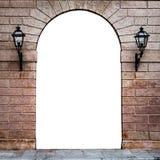 Arco de piedra de un palacio italiano conveniente como un marco o frontera Imagenes de archivo