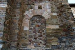Arco de piedra que adorna la puerta de la luna Fotos de archivo