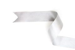arco de plata de la cinta en color gris blanco de plata brillante aislado fotos de archivo