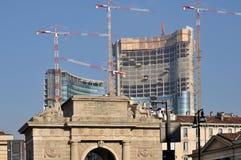 Arco de Porta Volta, Milano Imágenes de archivo libres de regalías