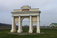 Arco de Riumphal El arquitecto - el acad?mico de la arquitectura Luigi Rusca foto de archivo libre de regalías