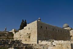 Arco de Robinson, segundo templo judío, Jerusalén Foto de archivo